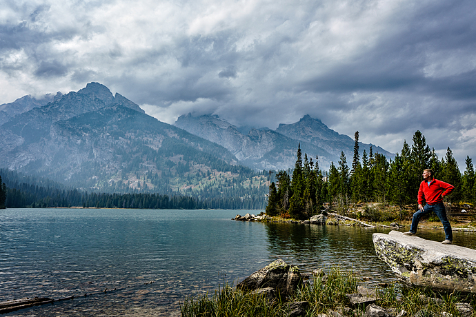 Beholding the Grand Tetons at Taggart Lake