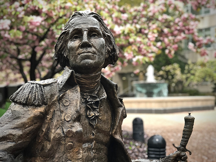 George Washington Relaxes after a Spring Rain