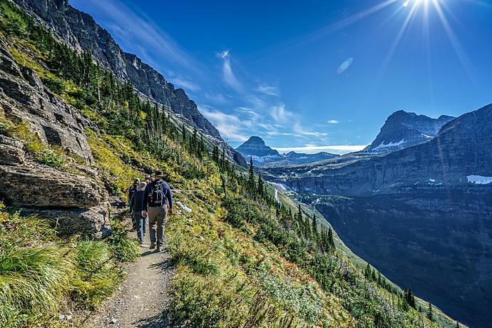 Hiking the Highline Trail at Glacier National Park