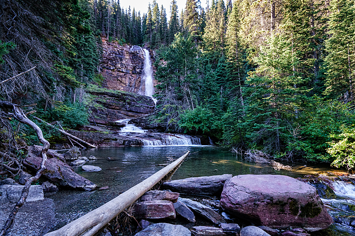 Virginia Falls at Glacier National Park
