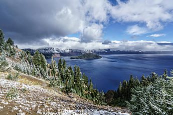 Crater Lake Snow Dusting