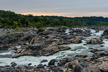 Great Falls as the sun fell