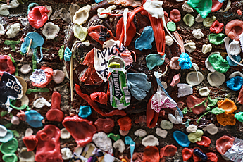 Gum Wall under Pike Place Fish Market in Seattle