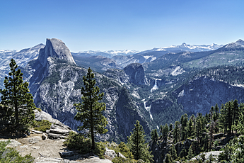 Half Dome from Glacier Point at Yosemite National Park