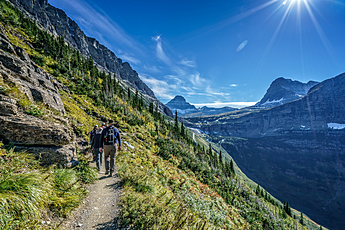 Hiking the Highline Trail at Glacier National Park