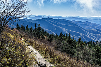 Layers of Mountains from Waterrock Knob Trail on Blue Ridge Parkway
