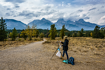 Painting the Grand Tetons