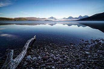 Peaceful Morning at Lake McDonald in Glacier National Park