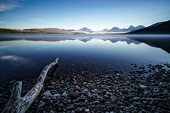 Peaceful Morning at Lake McDonald in Glacier National Park