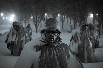 Snowzilla at the Korean War Memorial