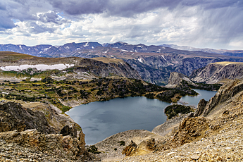 Twin Lakes from the Beartooth Highway